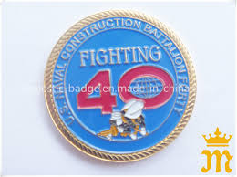 <b>Customized</b> 3D Shiny Gold Plated <b>Rope Edge</b> Challenge <b>Coin</b>