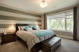 ... Simple Accent Wall With Horizontal Stripes In The Bedroom [Design: A|K  Design