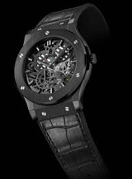 bare bones 10 standout skeleton watches › watchtime usa s no 1 hublot classic fusion classico ultra thin all black