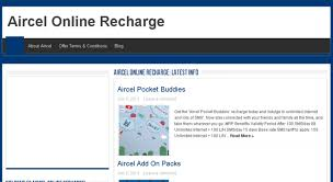 Access Aircelonlinerecharge Net Aircel Online Recharge