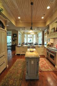 Southern Coastal Homes (With a bigger center island though) ceiling,  dining, dishwasher. Narrow Kitchen ...