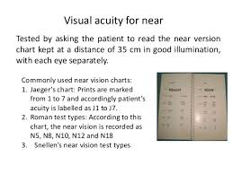Jaeger Number 1 Test Chart Eyes Vision Eye Vision J1