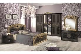 Barock Schlafzimmer Giulietta In Schwarzgold 6 Teilig
