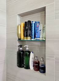 shower shelves built in bathroom contemporary with 2 sink vanity alcove