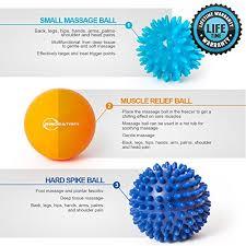 Trigger Points Foot Chart Foot Massage Ball Set Spiky Massager Balls For Deep Tissue