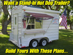home built stand in concession trailer from the e z built plans