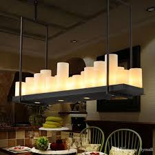 kevin reilly altar modern pendant lamp remote control chandelier candle light fixture suspension lamp rectangular wrought iron pendant light industrial