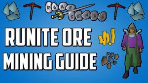 Old School Runescape In Depth Runite Ore Mining Guide