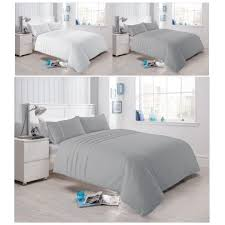 lau pleated cotton rich duvet quilt cover percale bedding set all sizes on on