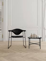 ts round coffee table with marble top from gubi