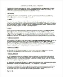 Residential Lease Contract Unique House Lease Contract Form Rescue World Org