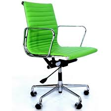 eames style office chairs. Eames Style EA 117 Office Chair - Apple Green Leather Chairs