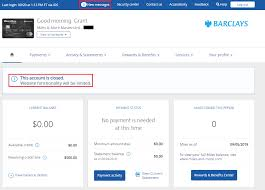 remove closed barclays credit card from