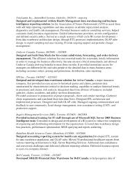 Etl Data Warehouse Testing Resume Free Resume
