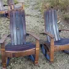 wine barrel outdoor furniture. Set Of 2 Oak Rocker Red Wine Barrel Outdoor Chairs Furniture E