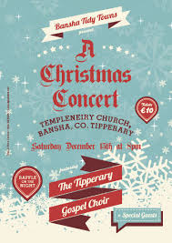Christmas Concert Poster Tickets For Bansha Tidy Towns A Christmas Concert Christmas