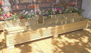 Deck Planter Box 120cm Handmade Wooden Planter Boxes Pressure Treated Wooden  Planters A Wooden Garden Planters