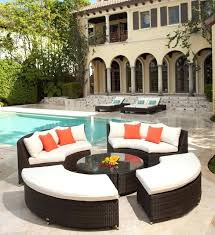 stunning circular outdoor sectional patio furniture round inspiration wicker cushion 5pc rattan sofa set curved outdoor sofa