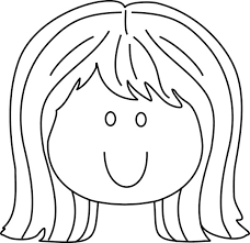 Little Girl Smiling Face Coloring Page Coloring Sun