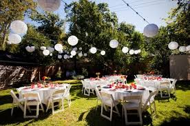 Table and Chair Rentals For Backyard Party in Santa Clarita