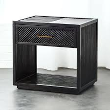 gold glass top nightstand black wood