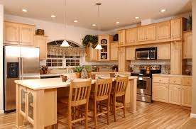 Light Wood Cabinets Kitchen Kitchen Light Wooden Standing Kitchen Cabinets Color And Cooktop