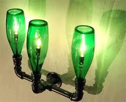 wall light bulbs lamps pipe green bottles lighting verde outdoor