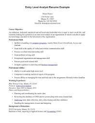 Resume Objective Entry Level 7 Nardellidesign Com