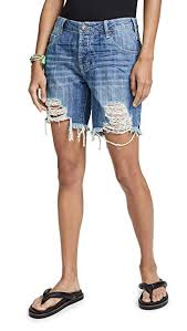 One Teaspoon Clothing Size Chart One Teaspoon Womens Rodeo Blue Stevies Low Waist Boyfriend Shorts