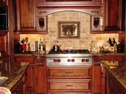 kitchen backsplash ideas with oak cabinets wall mount range hood green marble countertops dark brown mahogany wood kitchen cabinet chrome kitchen faucet