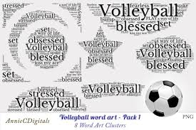 Volleyball Word Volleyball Word Art Clusters
