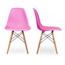 charles eames set of two dsw charles ray eames chairs replica pink
