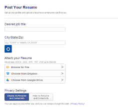 career builder post resume