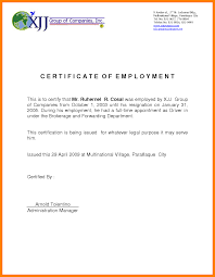 9 Example Of Certificate Of Employment For Teacher Bike Friendly