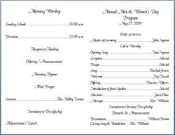 Church Program Template Church Bulletin Templates Template Templates Sunday School