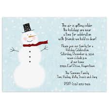 Printable Holiday Party Invitations Christmas Party Invitations Snowman Design Printed With