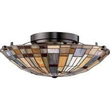 inglenook 1617 ceiling semi flush light by quoizel