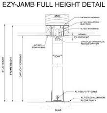 ezy jamb door jamb is a split type jamb manufactured from cold rolled steel