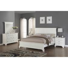 Shop Laveno 012 White Wood Bedroom Furniture Set, Includes King Bed ...