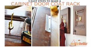Door Coat Rack Repurposed Cabinet Doors DIY Coat Rack 81