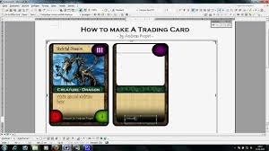 free trading card template trading card template word template business