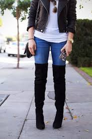 Best 25+ Thigh high boots outfit ideas on Pinterest | Thigh high ...