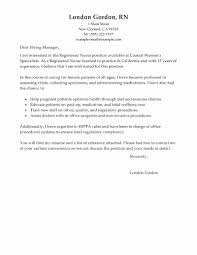 Nursing Cover Letter New Graduate New Grad Rn Cover Letter New New