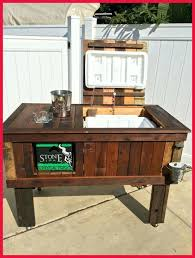 patio patio cooler cart table motorized outdoor beverage medium size of plans walma