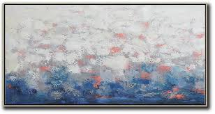 large contemporary art acrylic painting horizontal palette knife contemporary art giant canvas wall art white grey  on large grey canvas wall art with large contemporary art acrylic painting horizontal palette knife