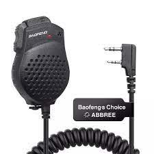 Orijinal Baofeng hoparlör Mic mikrofon için çift PTT BaoFeng iki yönlü  telsiz UV 82 artı UV 8D UV 82HP GT 5TP Walkie Talkie UV 82 Walkie Talkie  Parts & Accessories