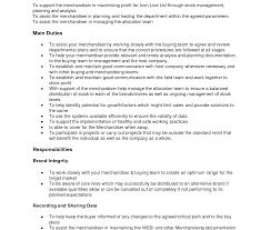 Resume For Retail Merchandiser Sample Merchandiser Visual