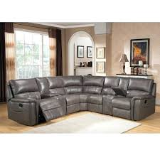 gray sectional sofa in with nailhead trim recliner sleeper