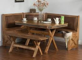 eating nook furniture. Arizona Rustic Oak Breakfast Nook Set W/ Upholstered Seats Eating Furniture S