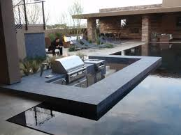 Pool And Bbq Designs Ultra Modern Courtyard Hardscape Submerged Grilling Area